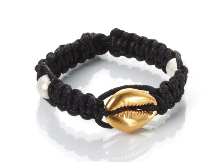 Gold Seashell and Pearls Bracelet – Thin