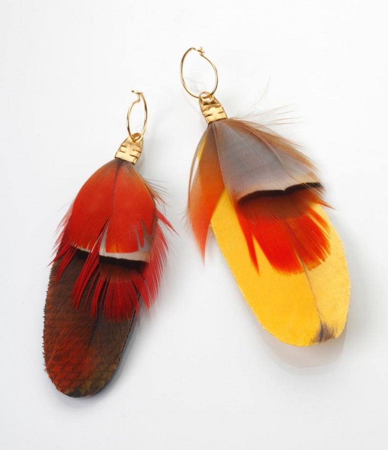 2017 fashion earrings - Feathers Earrings Liora Taragan
